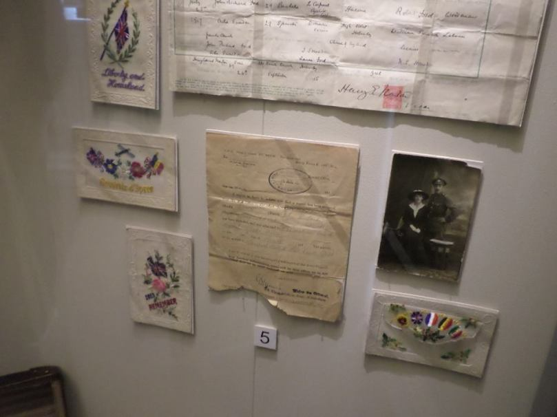 Assortment of beautiful embroidered cards sent from the frontline to the homefront.