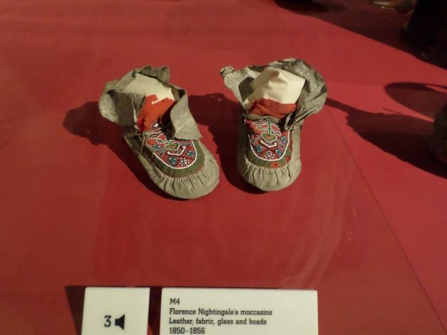 Moccasins belonging to Florence Nightingale.