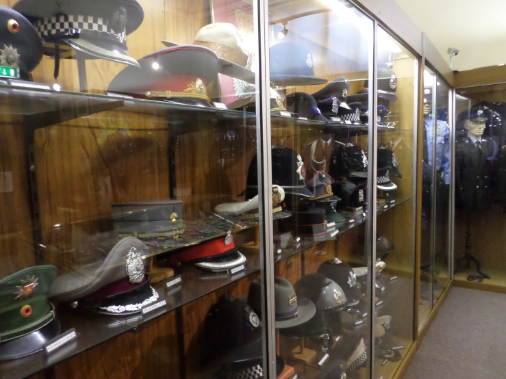 Collection of Police Hats on Display!