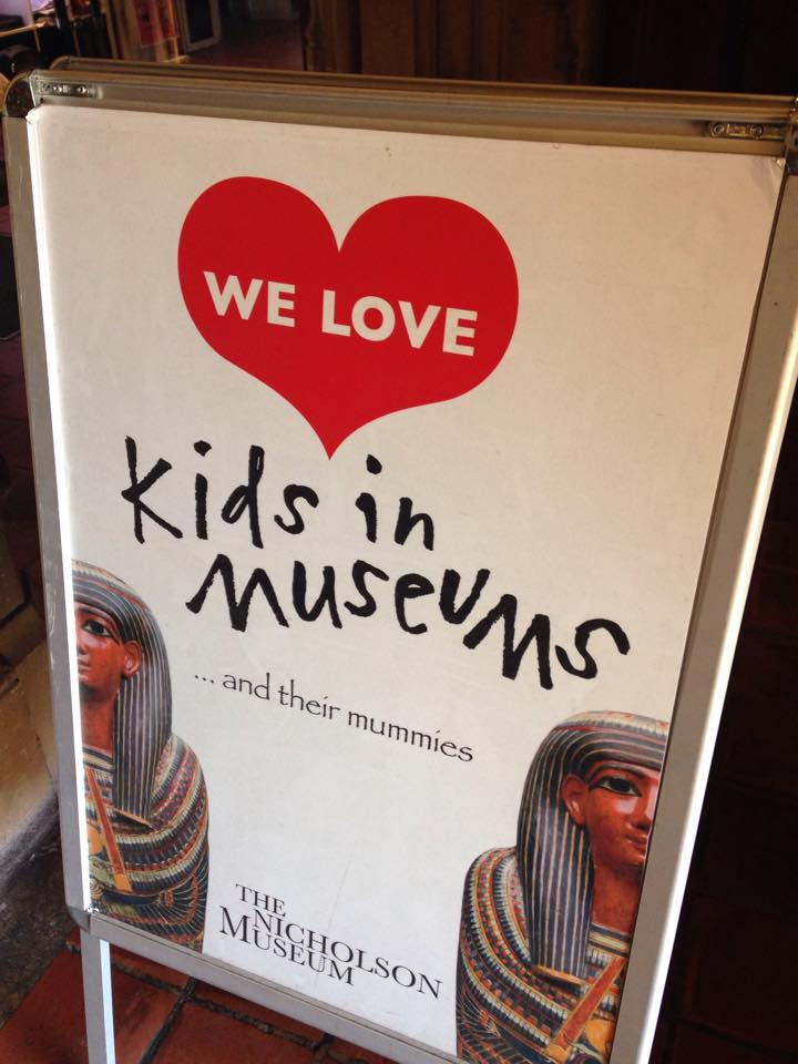 Sign at the Entrance to the Nicholson Museum.