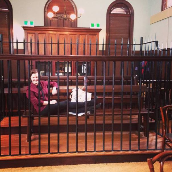 Inside the Justice & Police Museum.