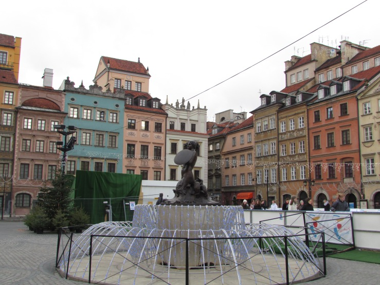 Old Town Square with Mermaid Statue