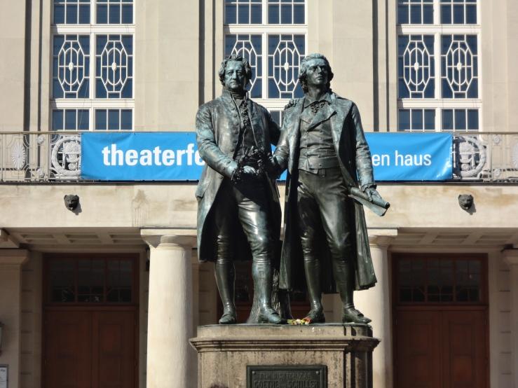 Better Statue of Goethe and Schiller