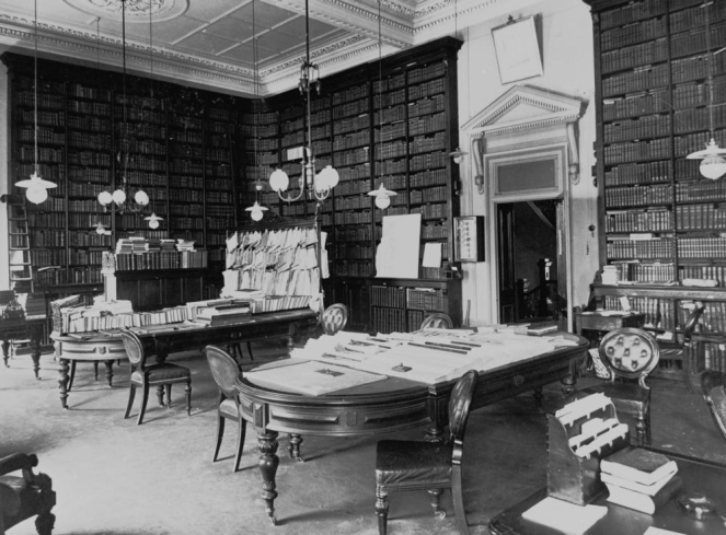 Library reading room in Parliament House Brisbane ca. 1906